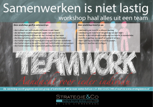 Workshop Haal alles uit je team