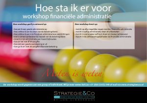 Workshop financiele administratie ai