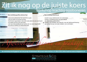 Workshop krachtig positioneren